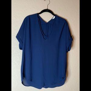 Lush Navy Blue Blouse